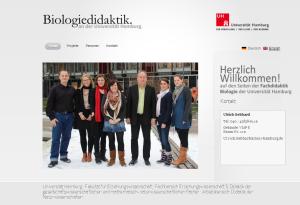 Neue Webseite: Biologiedidaktik an der Universität Hamburg