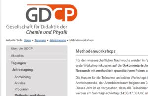 Vorbereitung GDCP-Workshop: Die dokumentarische Methode